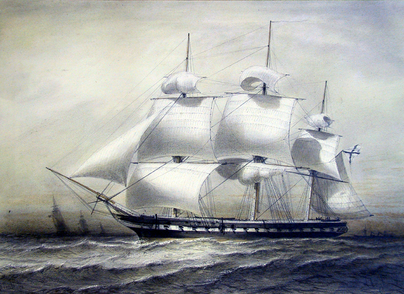 Алексей Петрович Боголюбов. Фрегат «Паллада»