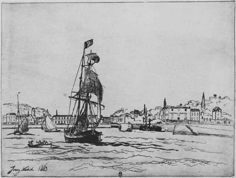 Ян Бартолд Йонгкинд. Вход в гавань Онфлёра