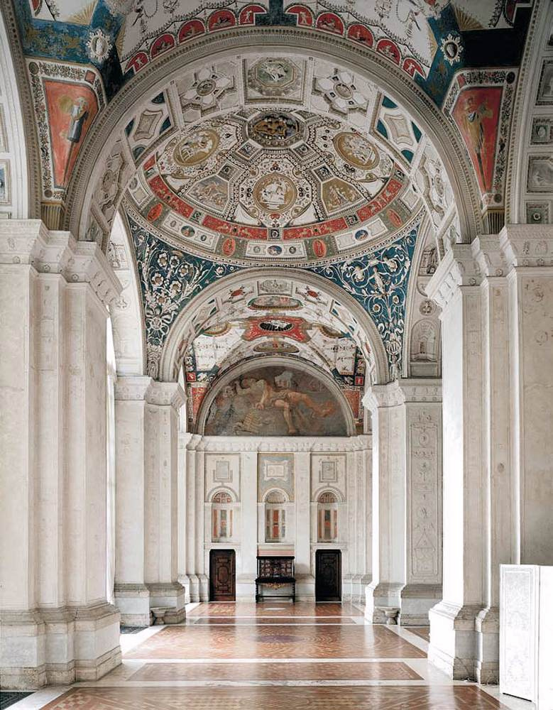 Raphael Sanzio. The painting of the loggia of Raphael Villa Madama, Rome