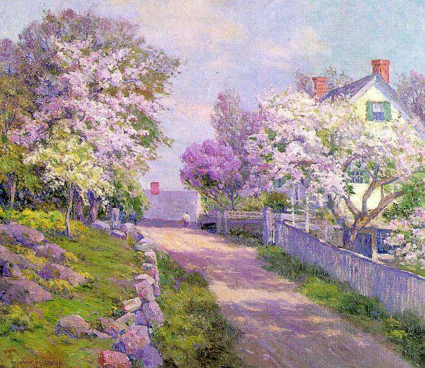 Джон Джессоп Хардвик. Цветущий сад