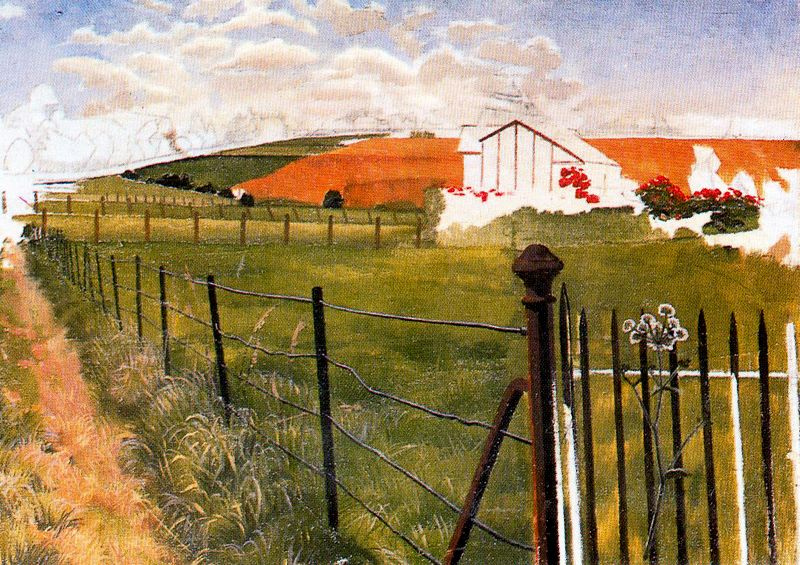 Stanley Spencer. The fence