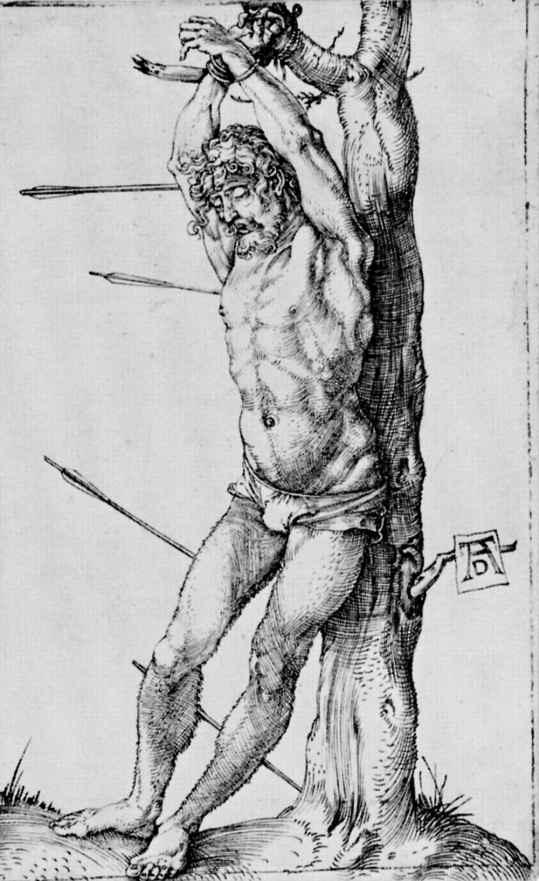 Альбрехт Дюрер. Святой Себастьян у дерева