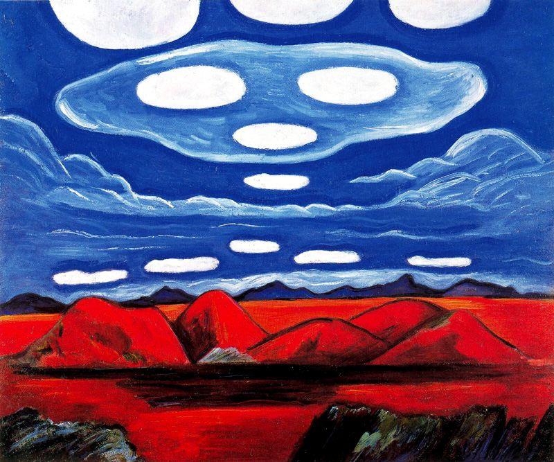 Marsden Hartley. Blue cloud