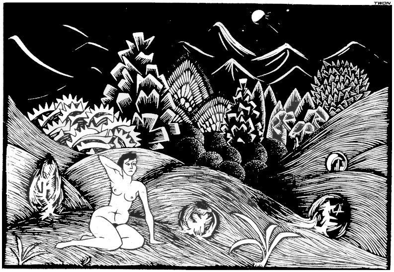 Мауриц Корнелис Эшер. Обнаженная в пейзаже