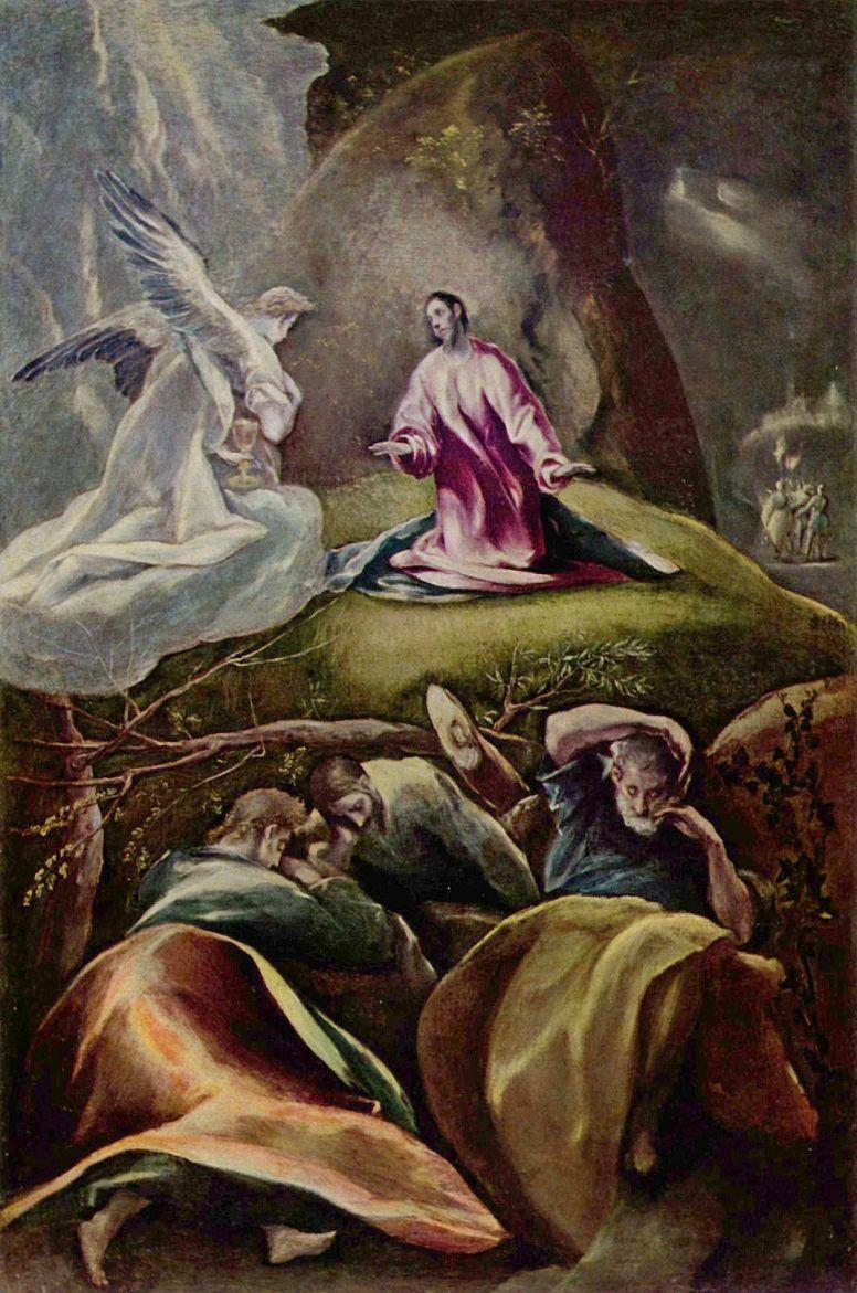 Christ in the garden of Gethsemane by Domenico Theotokopoulos (El ...