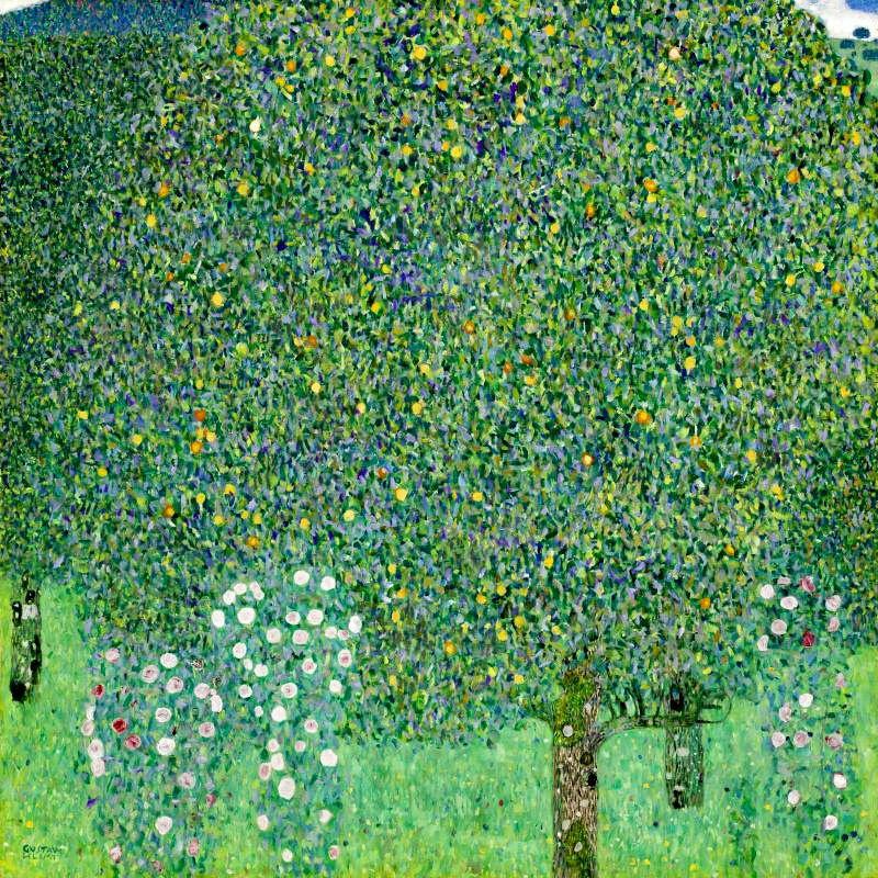 Gustav Klimt. Roses under the trees