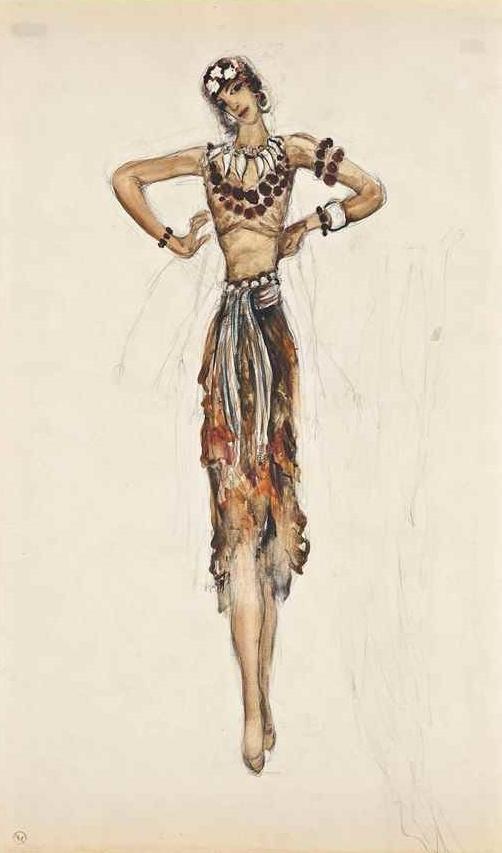 Mikhail Larionov. Oriental dancer, Port Said