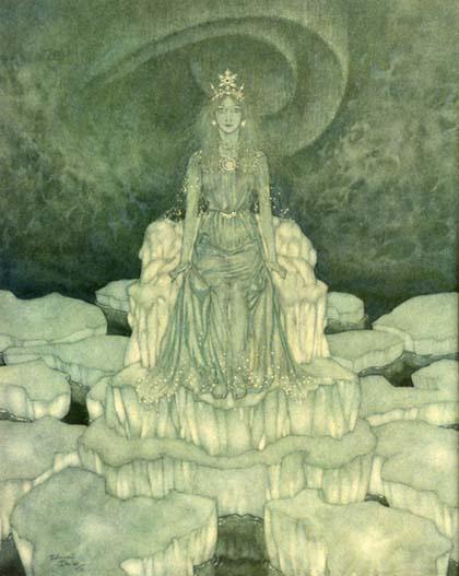 Эдмунд Дюлак. Иллюстрация к сказке Снежная Королева 003
