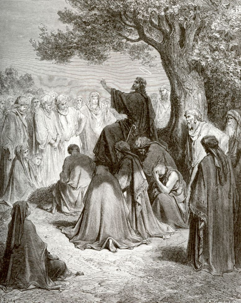 Поль Гюстав Доре. Иисус Христос проповедует народу
