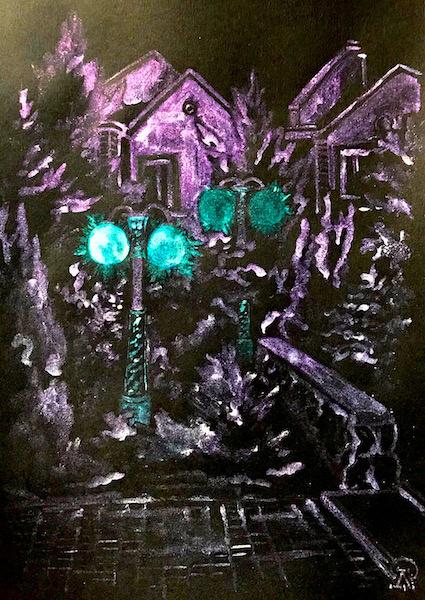 Larissa Lukaneva. P. Successful. Lanterns. Sketch.
