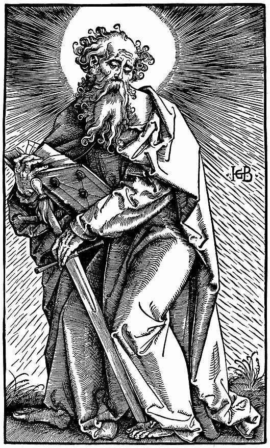 """Ханс Бальдунг. Серия """"Большие апостолы"""", Святой Павел"""