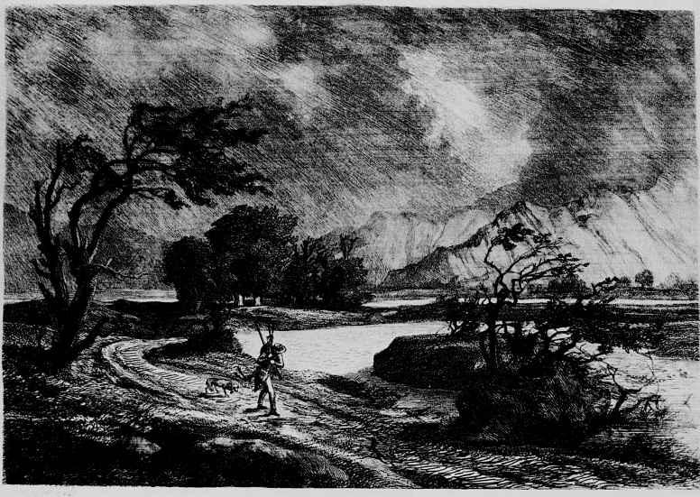 Шарль-Франсуа Добиньи. Охотник на серн в горах Бур д'Уазан