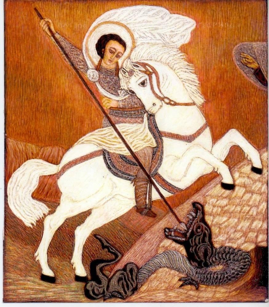 Martin Gurgenovich Ashkhatoev. St. George the Victorious