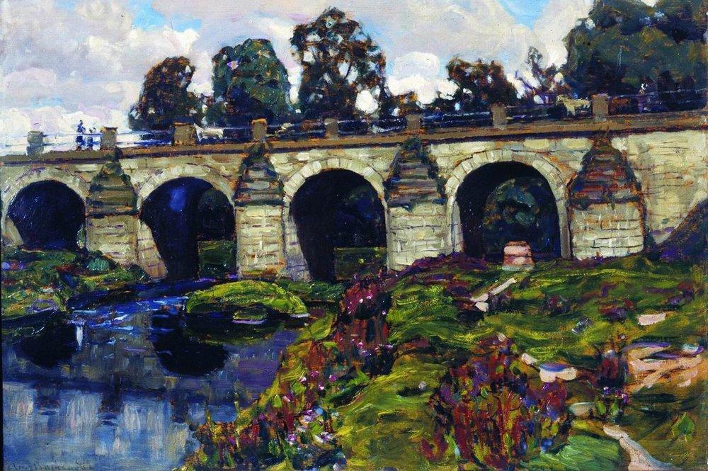Аполлинарий Михайлович Васнецов. Дворцовый мост через реку Яузу. Лефортово