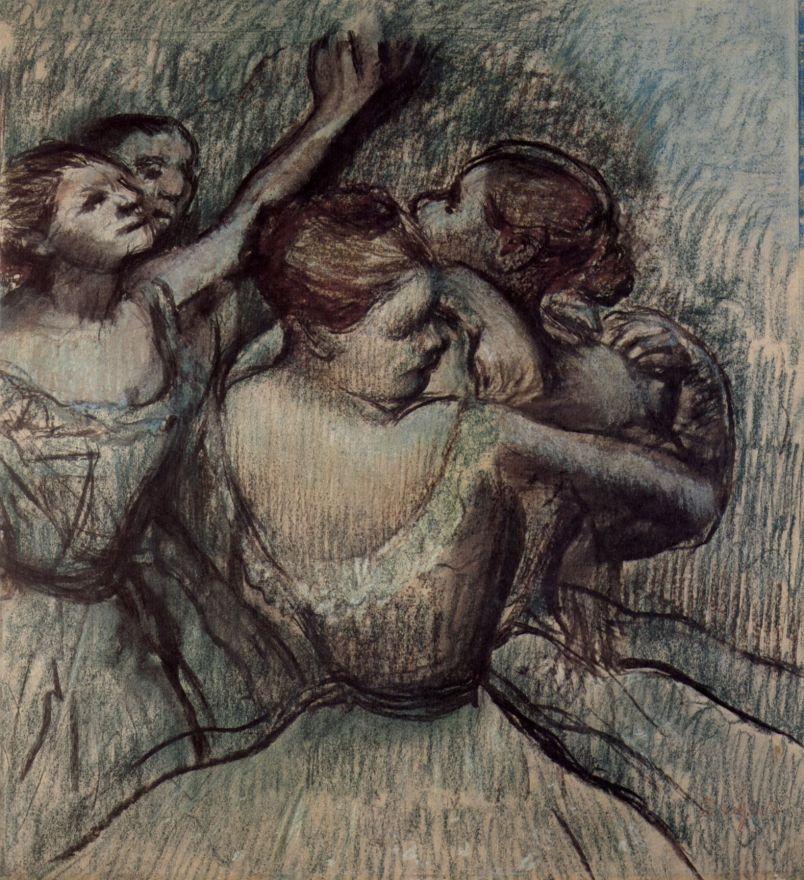 Эдгар Дега. Полуфигуры четырех балерин