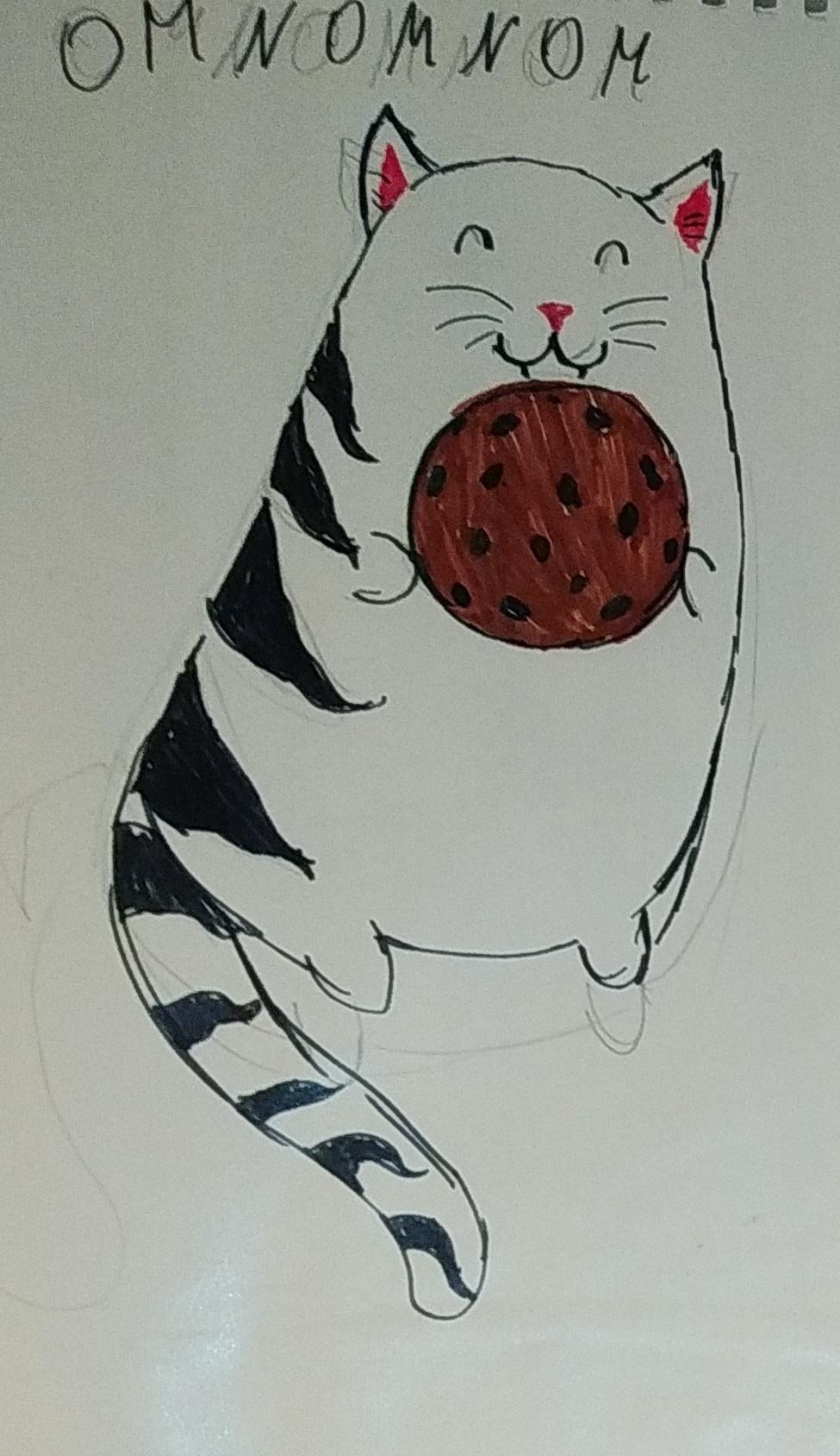 Zina Vladimirovna Parisva. Cat with a cookie