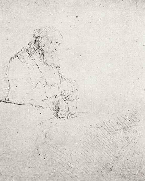Рембрандт Ван Рейн. Задумавшийся старик