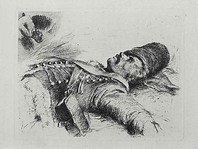 Адольф фон Менцель. Мертвый гусар, второе состояние