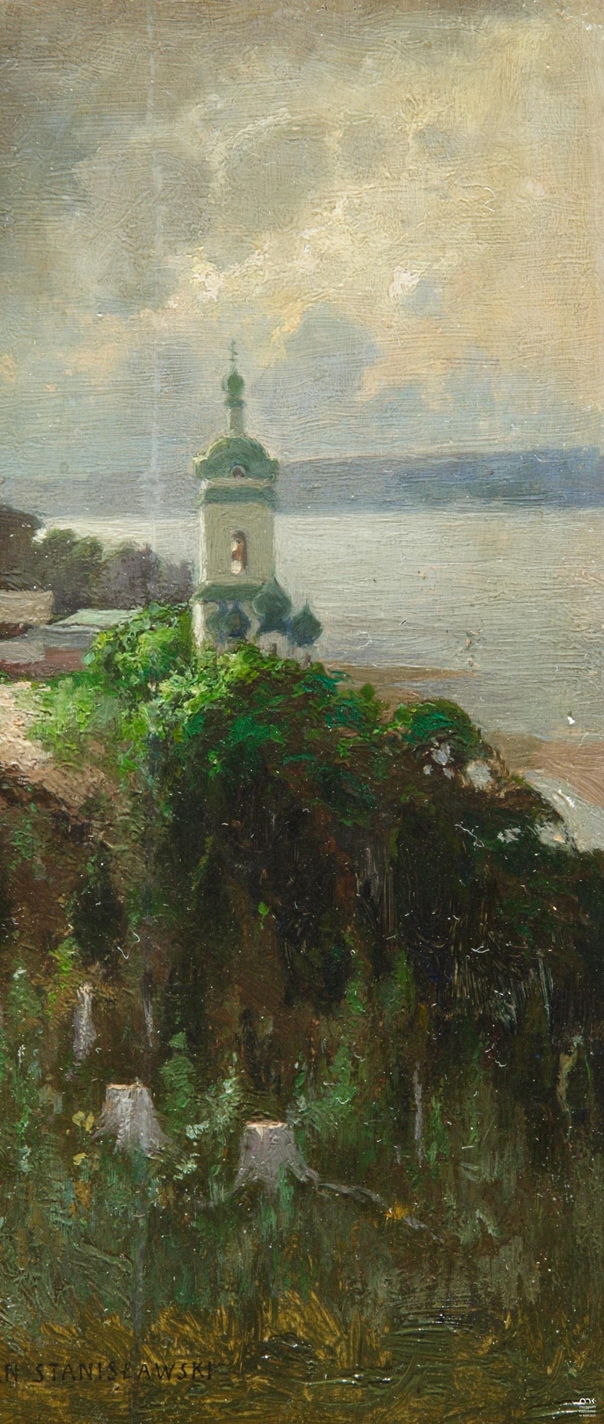 Jan Stanislavsky. Church on the banks of the Dnieper