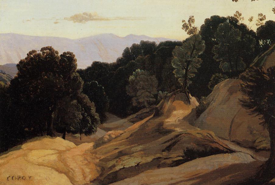 Камиль Коро. Дорога через лесистые горы