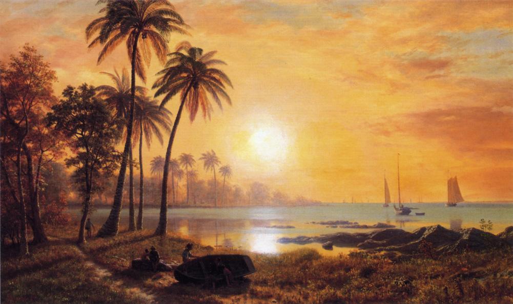 Альберт Бирштадт. Рыболовные судна в заливе