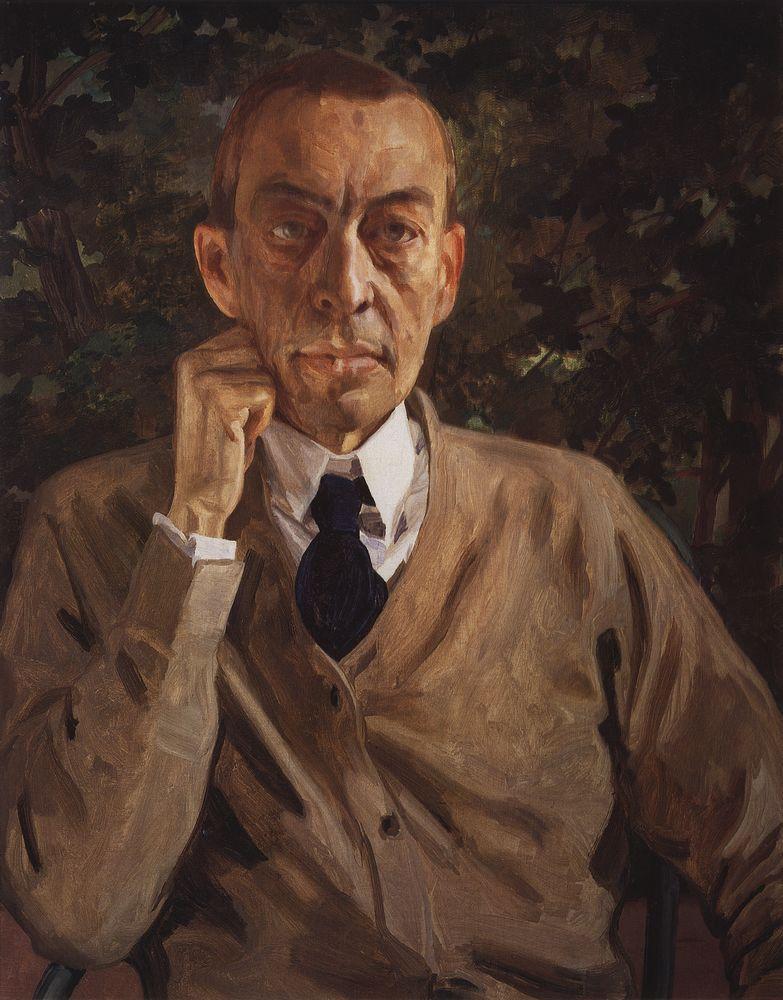 Константин Андреевич Сомов. Портрет Рахманинова