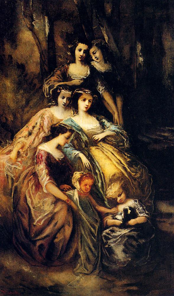 Адольф Монтичелли. Императрица Евгения и ее фрейлины