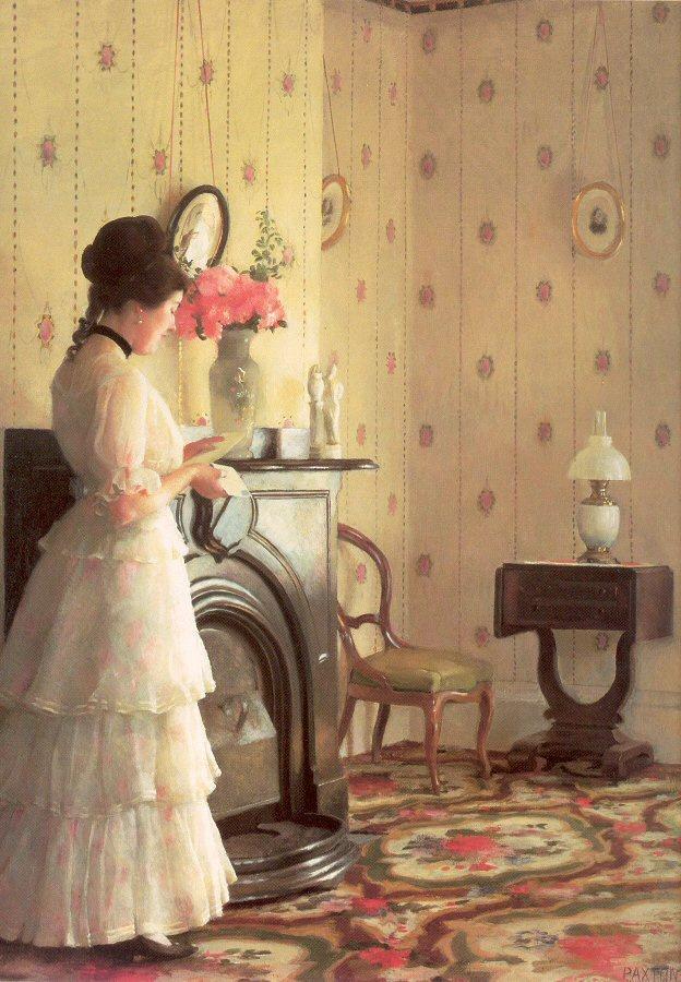 Уильям Мак-Грегор Пэкстон. Женщина читает письмо