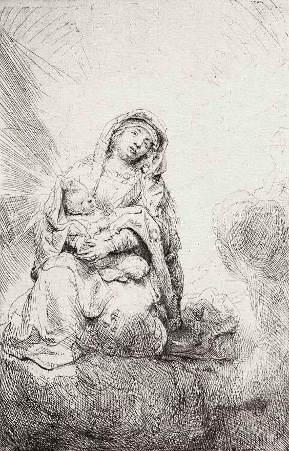 Рембрандт Ван Рейн. Мадонна в облаках