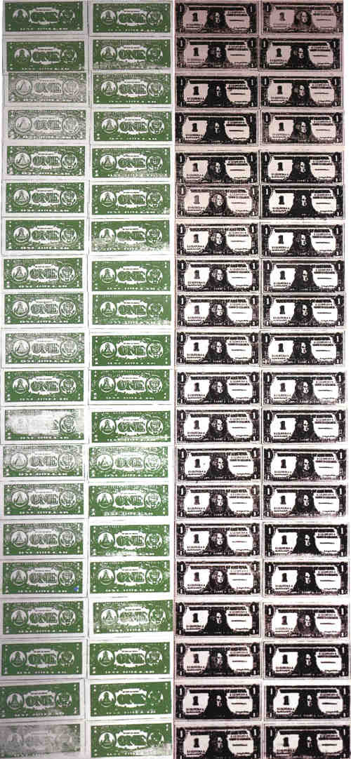 Энди Уорхол. Сто долларовых банкнот (Лицо и изнанка)