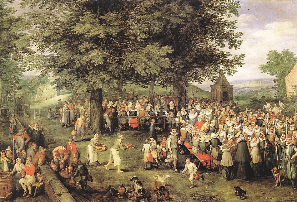 Jan Bruegel The Elder. Wedding Banquet