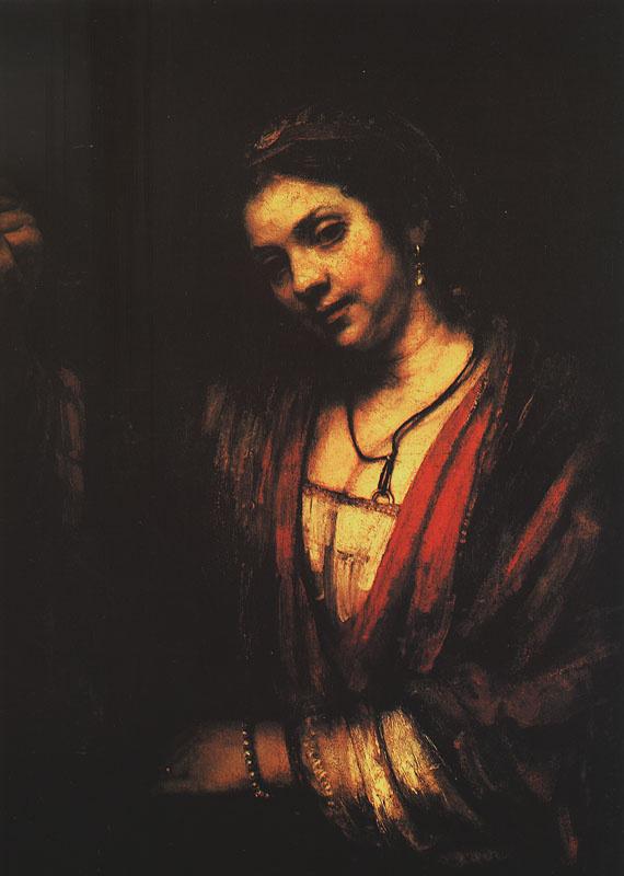 Rembrandt Harmenszoon van Rijn. Hendrickje at window