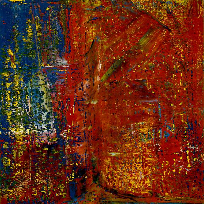 Gerhard Richter. The red and the blue