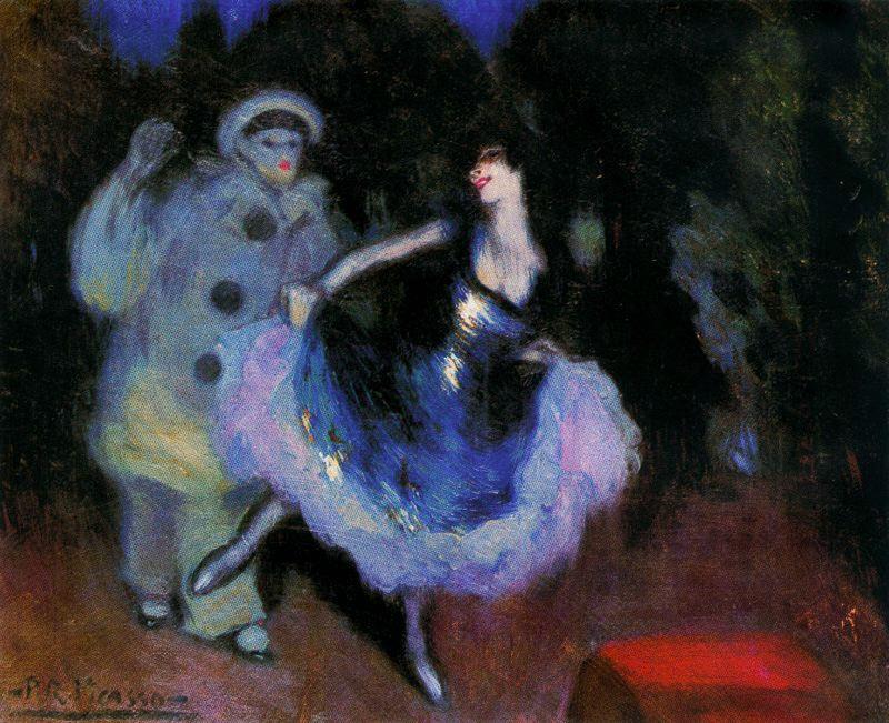 Пабло Пикассо. Пьерро и Коломбина