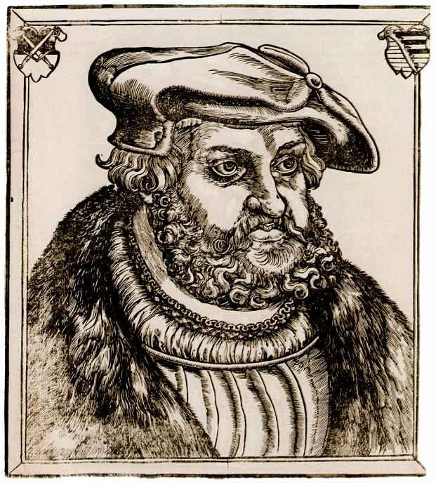 Лукас Кранах Старший. Портрет Фридрих Мудрого, курфюрста Саксонии