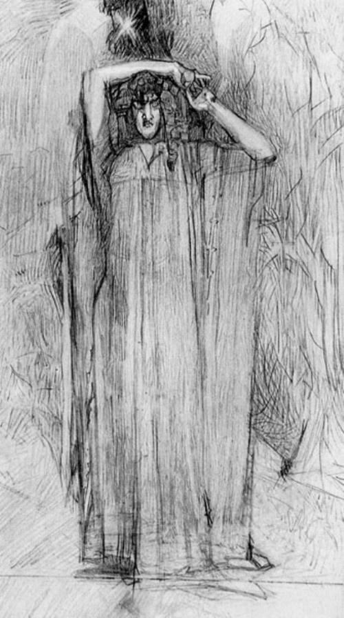 "Mikhail Vrubel. The demon standing. Illustration to the poem by Mikhail Lermontov ""Demon"""