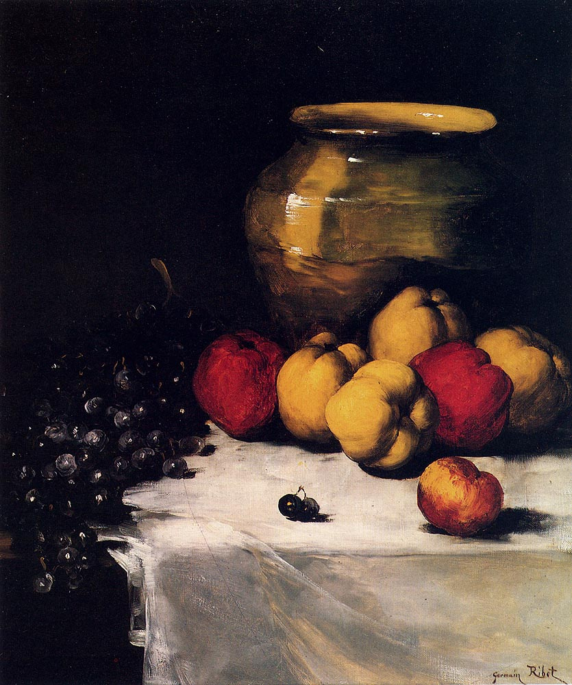 Theodul-Augustin The RIBO. Still life with grapes