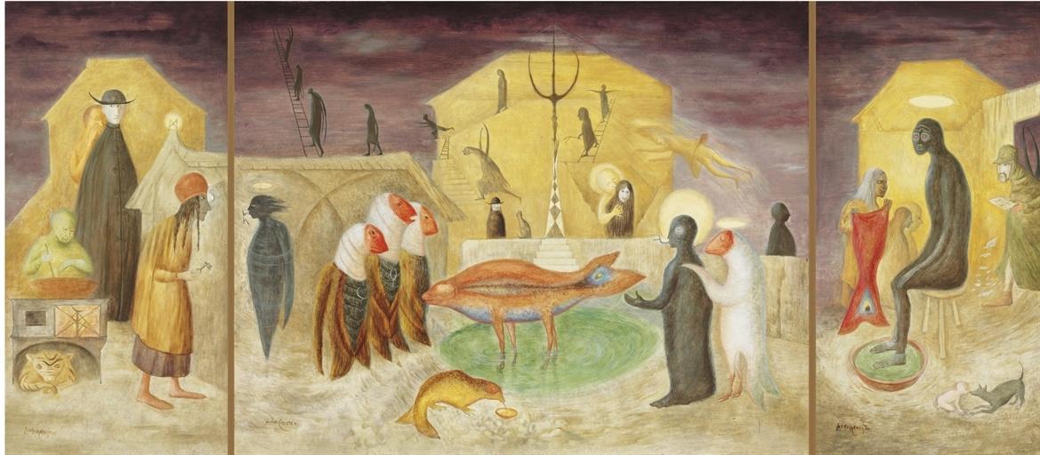 Леонора Каррингтон. Рождество. Триптих