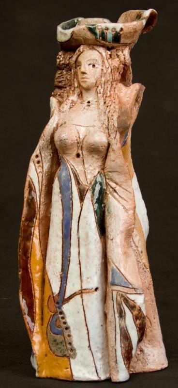 "Victoria Petrovna Chaplygina. Doll in a cobalt crinoline. Series ""Venice Carnival"""