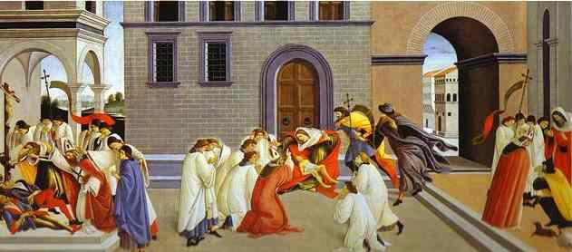 Сандро Боттичелли. Сцены из жизни святого Зиновия
