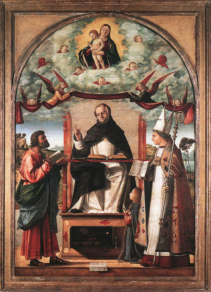Vittore Carpaccio. SV. Thomas in glory between St. Mark and SV. Louis