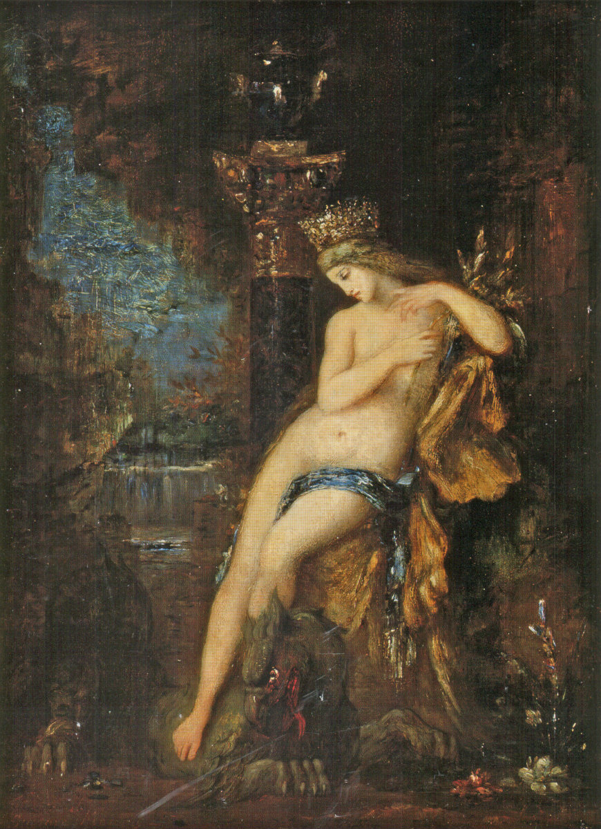 Gustave Moreau. Nymph with griffin