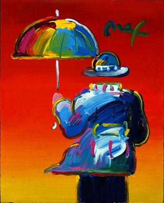 Питер  Макс. Человек зонта (Umbrella man)