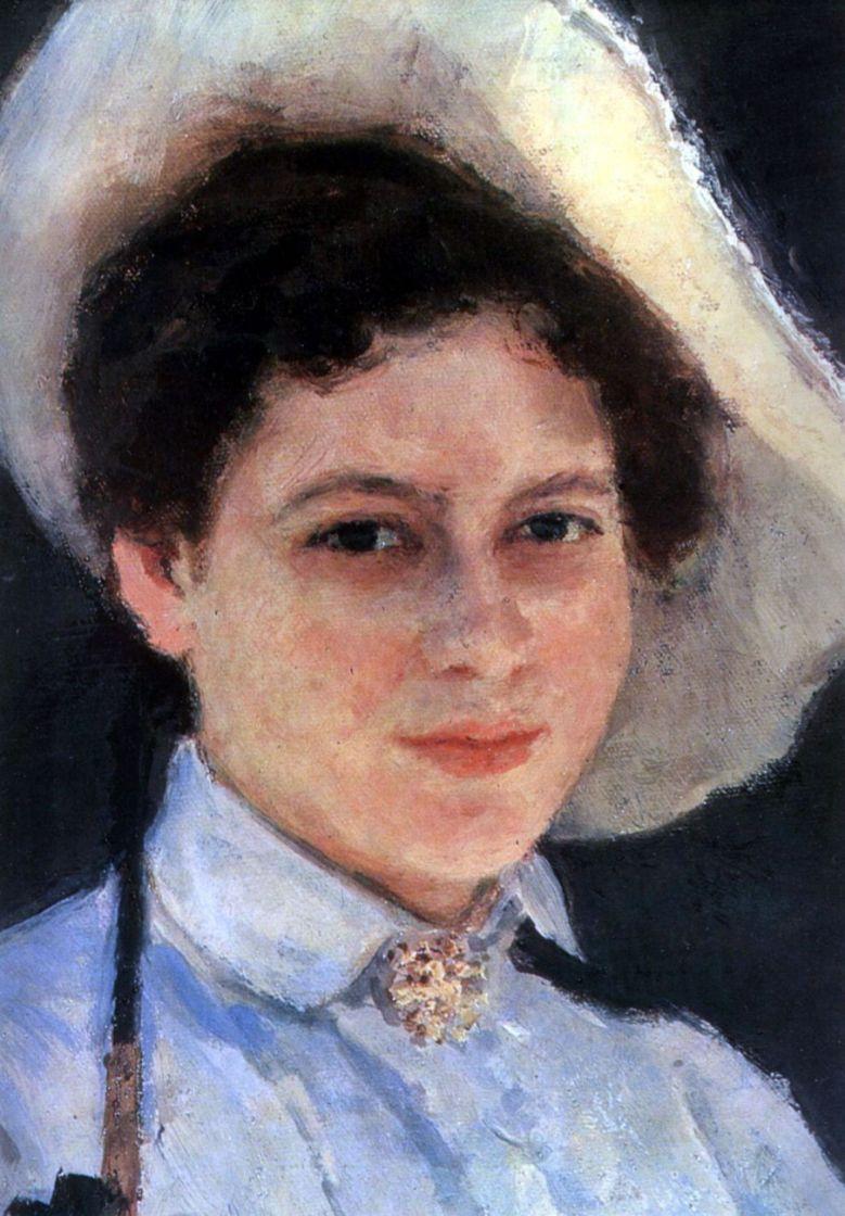 Ilya Efimovich Repin. On the sun. Portrait Of Nadezhda Repina. Item