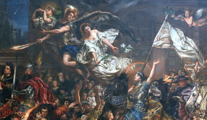 Ян Матейко. Орлеанская Дева. Фрагмент III