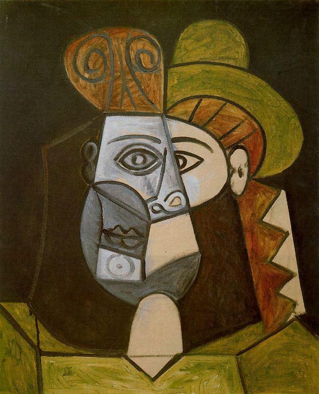 Пабло Пикассо. Женщина в зеленой шляпе