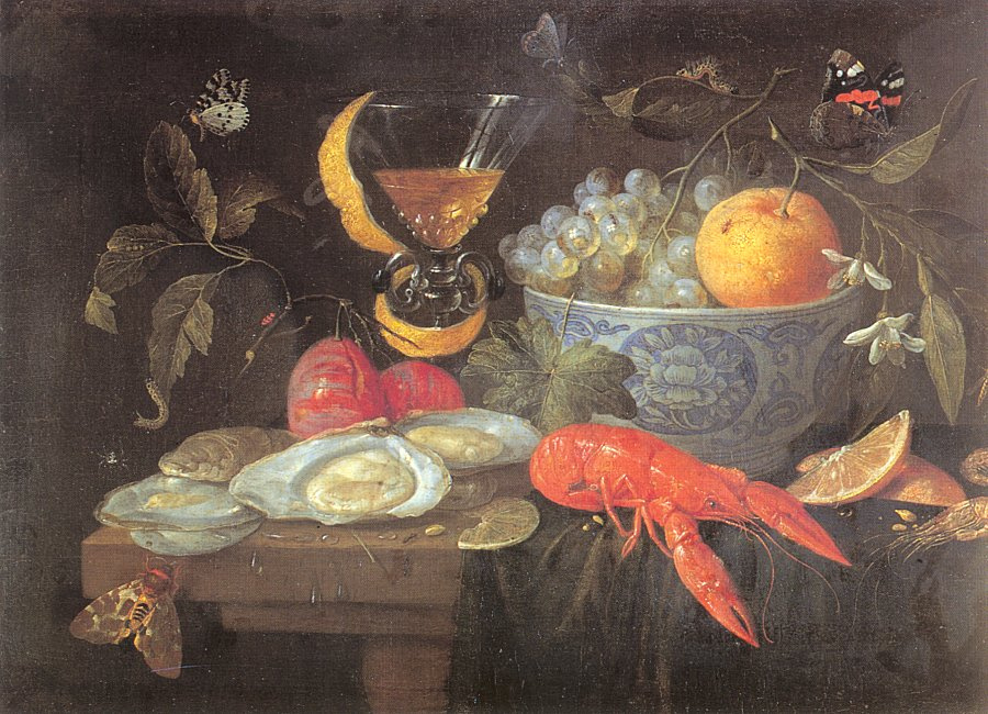 Jan van Kessel Elder. Still life with glass