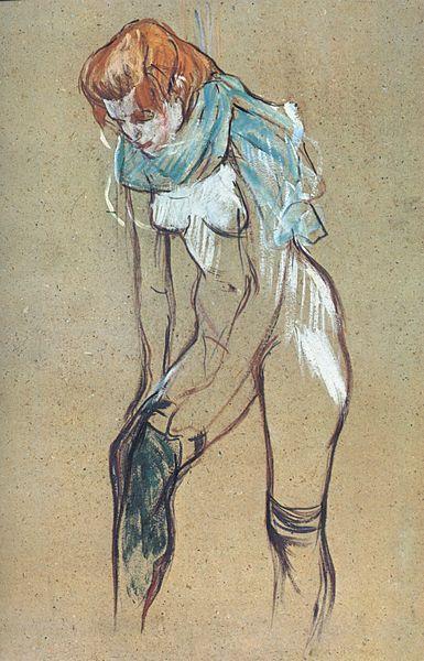 Анри де Тулуз-Лотрек. Женщина в чулках