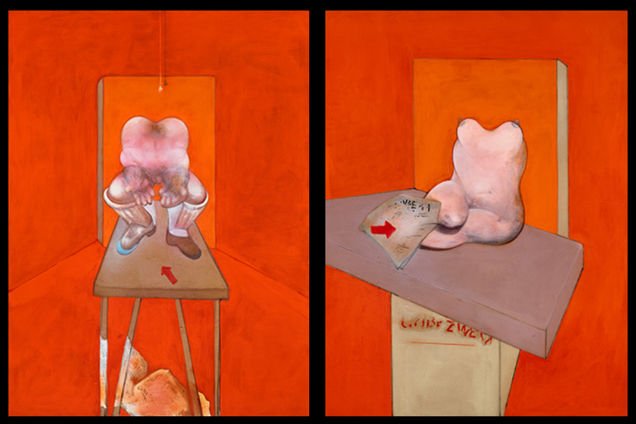 Francis Bacon. Diptych sketch of the human body