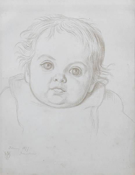 William Holman Hunt. Portrait Of Gladys Holman Hunt